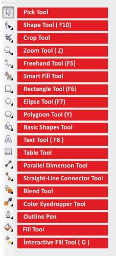 corel draw x5 toolbox